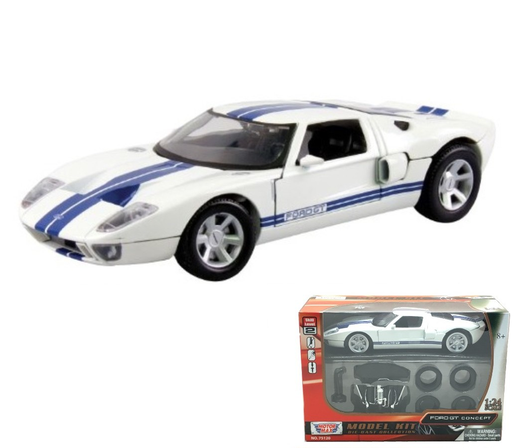 Ford Gt Mustang Concept Coupe  Model Kit White Mm